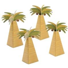 Árvore de coco Projeto Altro Papel cartão Caixas do Favor (conjunto de 12) (050154082)