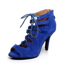 Женщины Замша На каблуках Сандалии Латино Обувь для танцев (053065467)