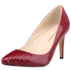 Donna Similpelle Tacco a spillo Stiletto Punta chiusa con Animale Stampa scarpe (085113510)