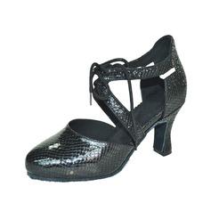 Женщины кожа На каблуках На каблуках Латино Обувь для танцев (053075244)