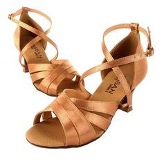 De mujer Satén Tacones Sandalias Danza latina Zapatos de Danza (053025581)