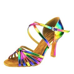Femmes Similicuir Latin Chaussures de danse (053142750)