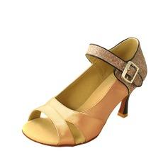 Vrouwen Satijn Sprankelende Glitter Hakken Sandalen Latijn Ballroom Dansschoenen (053012949)