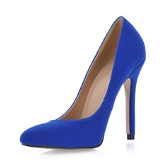Suede Stiletto Heel Pumps Closed Toe schoenen (085017512)