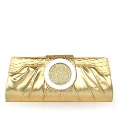 Elegante PU com Metal Embreagens (012032862)