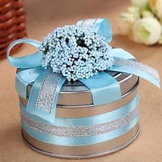Lächeln Blume Zylinder Zugunsten Zinn mit Bänder (Satz von 6) (050016116)