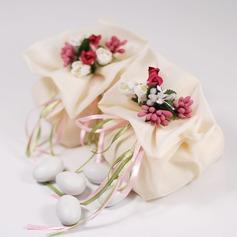 Mooie Bloemen Thema Bedank Tassen met Bloemen/Linten (Set van 12) (050046721)