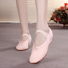 Детская обувь Холст На плокой подошве Балет Обувь для танцев (053065768)