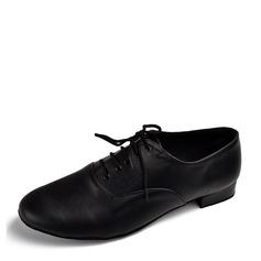 Мужская Натуральня кожа На каблуках На каблуках Латино Бальные танцы Практика Обувь для танцев (053073821)