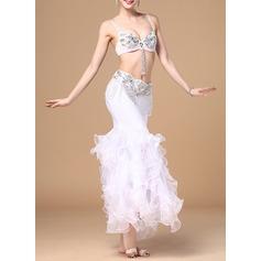 Женщины Одежда для танцев хлопок полиэстер шифон Танец живота Инвентарь (115086462)