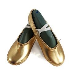 Kvinner Lær Flate sko Ballett Mage Dansesko (053111508)