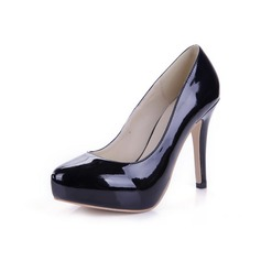 Patent Leather Stiletto Heel Pumps Plateau Closed Toe schoenen (085038575)