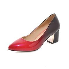 Женщины кожа Устойчивый каблук На каблуках Закрытый мыс с Другие обувь (085102873)