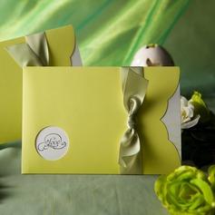 Estilo clásico Wrap & Pocket Invitation Cards con Cintas (Juego de 50) (114031516)