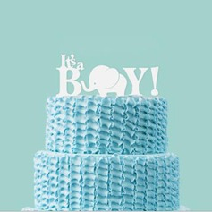 Blanding & Match det er en gutt Akryl Baby Dusj Kake Topper (119070036)