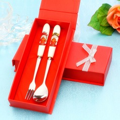 Bride & Groom Stainless Steel Spoon And Fork Set (051017015)
