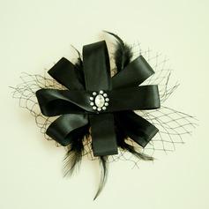 Дамы Красивая чистая пряжа/перо/Атлас лоб ювелирные изделия (042143699)