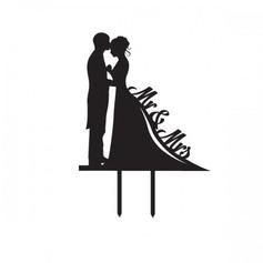 Beeldje Mr & Mrs Acryl Huwelijk Taarttoppers/Vrijgezellenfeest Taarttoppers (119063255)