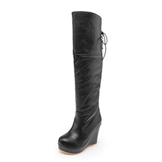 Keinonahasta Wedge heel Knee saappaat kengät (088056005)
