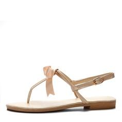 Similpelle Senza tacco Sandalo Infradito con Archetto scarpe (087047496)