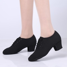 Женщины ткань На плокой подошве Практика с Шнуровка Обувь для танцев (053103663)
