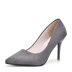 Женщины Замша Высокий тонкий каблук На каблуках Закрытый мыс обувь (085150506)