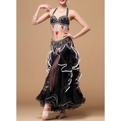 Kvinner Danseklær Bomull Polyester Chiffong Magedans Drakter (115086472)