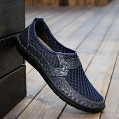 Homens Microfibra Couro mesh Penny Loafer Casual Mocassins Masculinos (260201240)