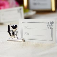 любовь дизайна Хром Держатели карт место (набор из 4) (051025020)