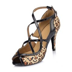 Women's Satin Heels Sandals Latin Dance Shoes (053065102)