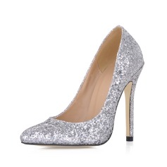 Vrouwen Sprankelende Glitter Stiletto Heel Closed Toe Pumps met Lovertje (047020486)
