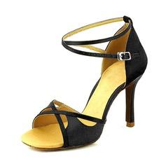 Женщины Замша На каблуках Сандалии На каблуках Латино Обувь для танцев (053095735)