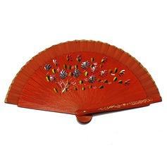 Цветочный дизайн Деревянный стороны вентилятора (набор из 4) (051057592)