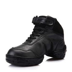 Женщины кожа Танцевальные кроссовки Танцевальные кроссовки Обувь для танцев (053061986)