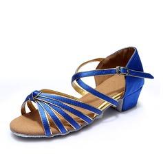Femmes Satiné Sandales Latin avec Boucle Ouvertes Chaussures de danse (053153819)