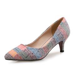 Женщины бархат Высокий тонкий каблук На каблуках с Атласный бант обувь (085105805)