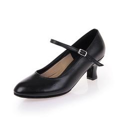 Женщины Натуральня кожа На каблуках На каблуках Обувь для Персонала с пряжка Обувь для танцев (053058456)