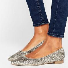 Женщины Мерцающая отделка Плоский каблук На плокой подошве Закрытый мыс обувь (086152983)