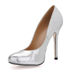 Vrouwen Kunstleer Stiletto Heel Closed Toe Pumps (047017503)