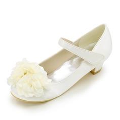 Bout fermé Low Heel Escarpins Chaussures de fille de fleur (207111560)