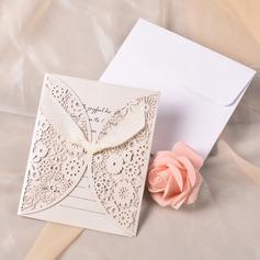 Klassieke Stijl Gate-Fold Invitation Cards met Linten (Set van 10) (118040263)