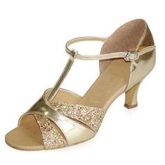 Vrouwen Patent Leather Hakken Sandalen Latijn met T-Riempjes Dansschoenen (053021928)