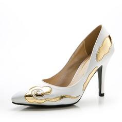 Женщины Атлас Высокий тонкий каблук На каблуках Закрытый мыс с Соединение врасщеп обувь (085059866)