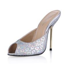 Glittrande Glitter Stilettklack Sandaler Pumps Slingbacks skor (087053014)