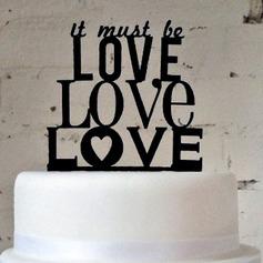 Brief moet het worden Love Acryl Huwelijk Taarttoppers/Vrijgezellenfeest Taarttoppers (119063257)
