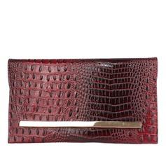 Fashional PU com Metal Embreagens (012031313)