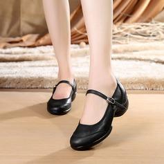 Женщины Натуральня кожа Танцевальные кроссовки Современный Обувь для танцев (053138902)