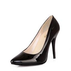 Kvinder Patenteret Læder Stiletto Hæl Pumps sko (085115613)