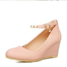 Женщины PVC Вид каблука Танкетка обувь (116155014)