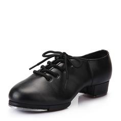 Femmes Similicuir Talons Claquettes avec Dentelle Chaussures de danse (053041984)